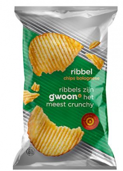 G'woon Ribbelchips Bolognese 215 g
