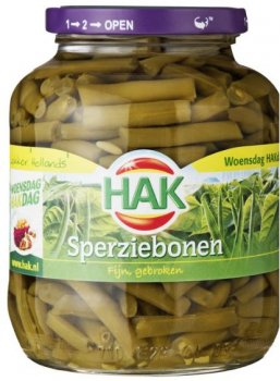 HAK Sperziebonen 675 ml