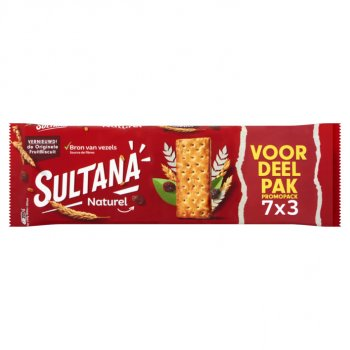 Sultana Fruitbiscuit Naturel  7x3  306 g