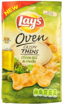Lay's Oven Crispy Thinks olive oil & herbs 90 g