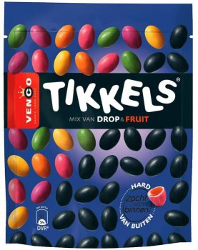 Venco Tikkels drop & fruit 245 g